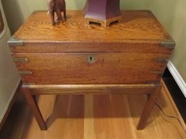 Antique travel desk-the inside is empty