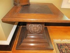 Small table with slate insert on top