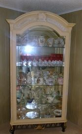 Large Lighted Curio Cabinet