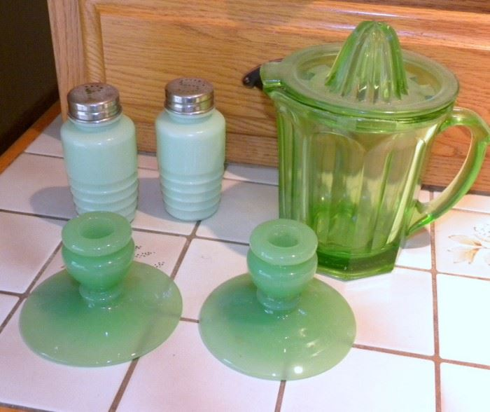 Jadeite and Green Depression Glass