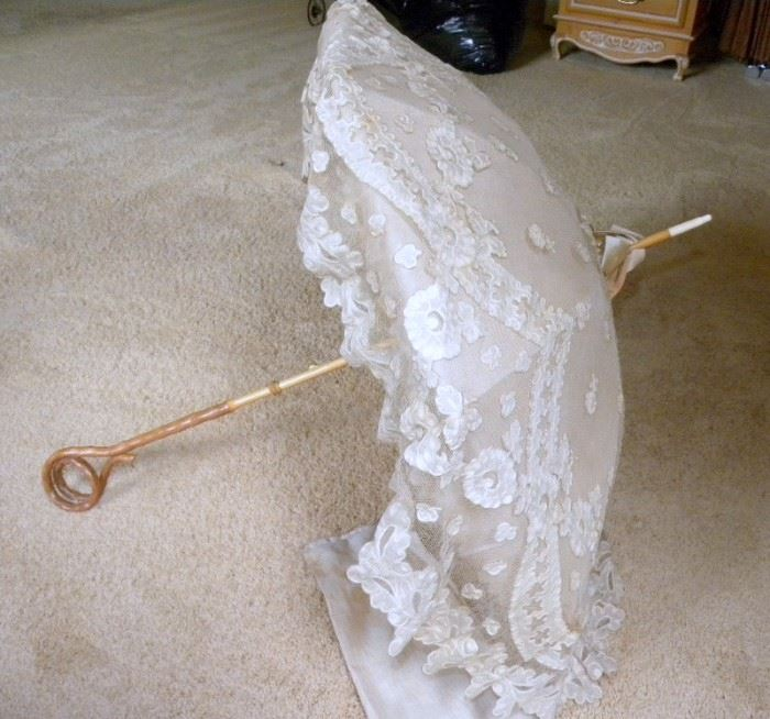 Antique Victorian Ladies Parasol