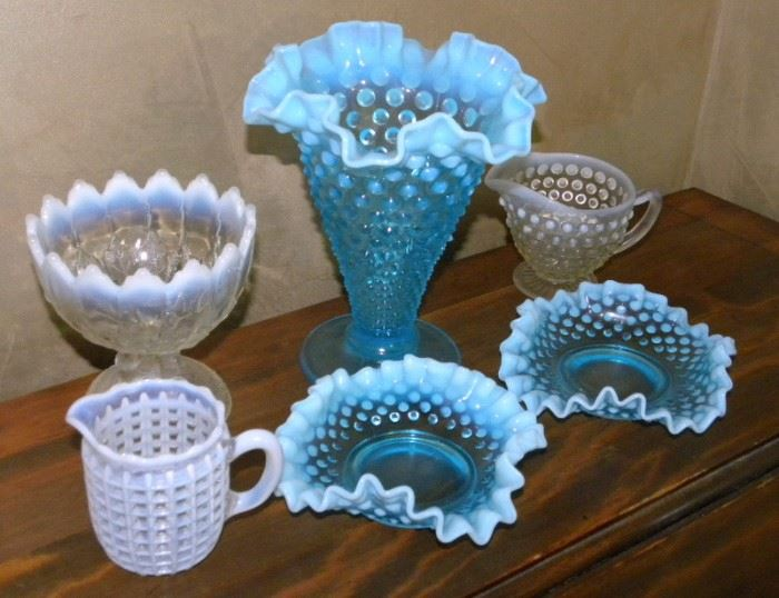 Fenton Opalescent Glass Pieces