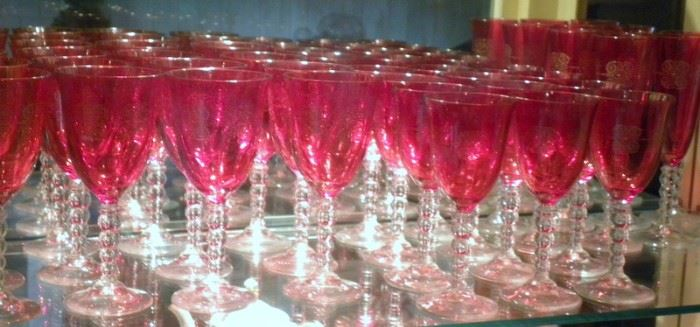Cranberry & Ruby Glass