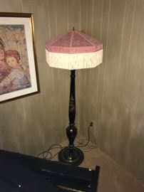 Oriental Inspired Lacquered Floor Lamp