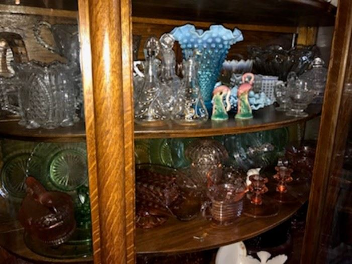 Lots of Depression Era Glassware