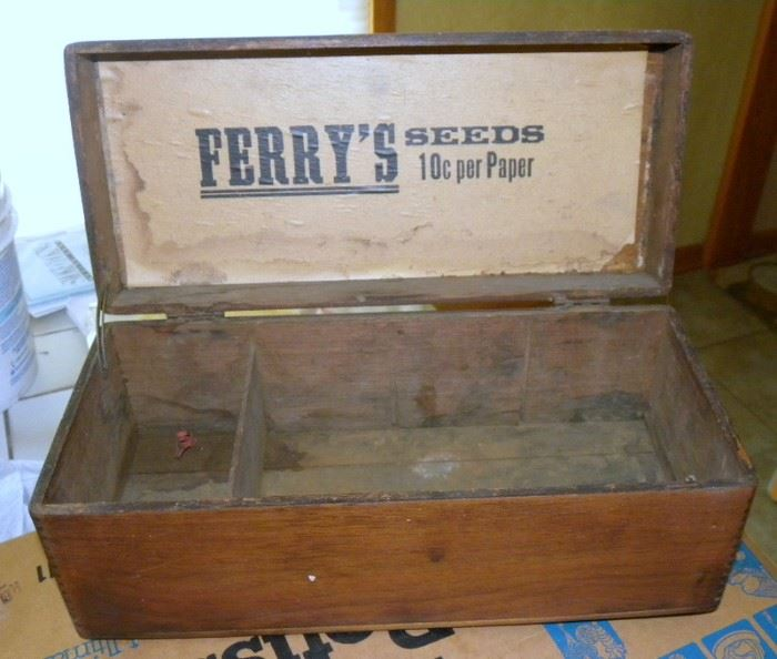 Antique Ferry's Seeds Box