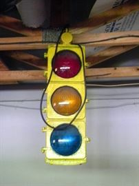 Large Vintage Stop Light
