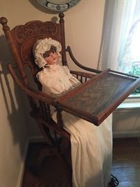 Collapsible  Victorian High Chair