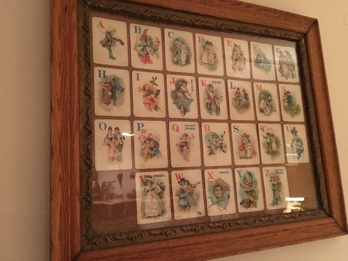 Victorian card game, cards have not been glued down