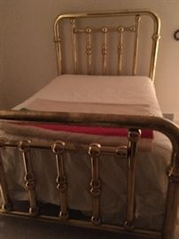 Double Antique Brass Bed