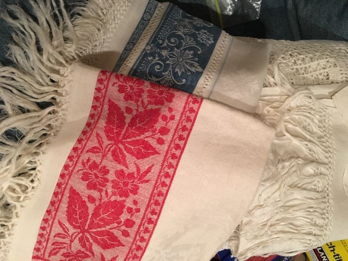 Early  damask linens
