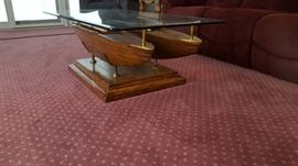 Sail Boat Nautical Coffee Table