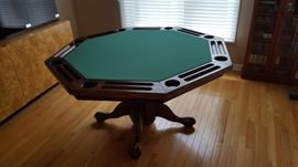 Octagon Claw Foot Dining Table / Poker Table