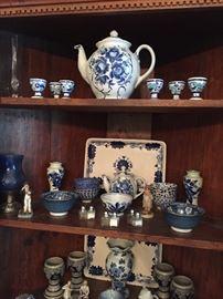 Blue & White Porcelain & Ceramic Pieces