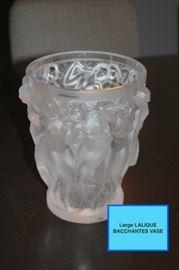 Large Lalique Bacchantes Vase