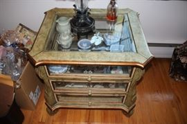 Side Cabinet / Display Case with Decorative Items