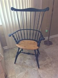 Custom Made Connecticut Comb Back Chair with Pine Seat by Peter Goodrich, Chairmaker.