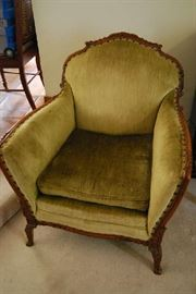 Antique Chair with Matching Sofa