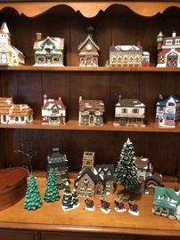 Large selection of Dept 56 houses