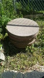 "Cement foot stones 18"" wide"