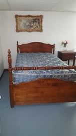 One of Several Queen Size Bed Frames with Mattress & Box Springs