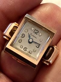 Unusual Tourneau 14K Finger Watch