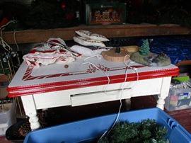 Vintage enamel kitchen table
