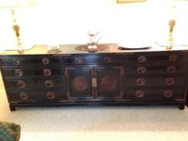 Asian Chinese style sideboard buffet credenza--BUY IT NOW--$2000