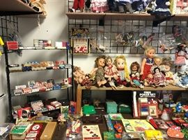 vintage toys and games and dolls