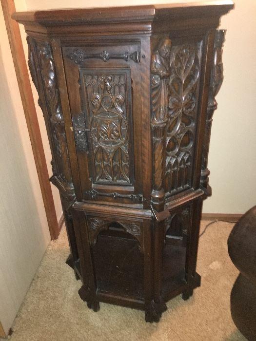 Antique Gothic Cabinet