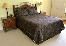 Ralph Lauren bedding on an Ethan Allen bedroom set