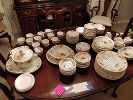 71 piece set Noritake Hofgarten dinnerware