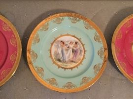 Set of Royal Vienna Plates excellent condition