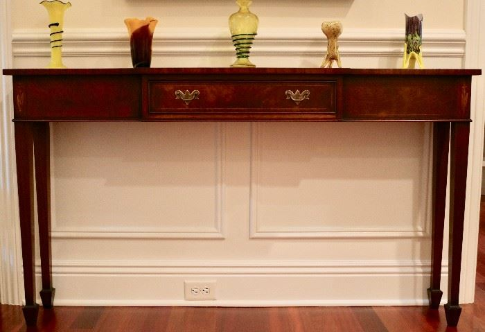 Inlaid Single Drawer Sofa Table