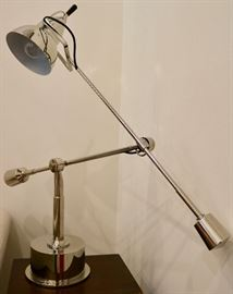 Modern Chrome Adjustable Lamp