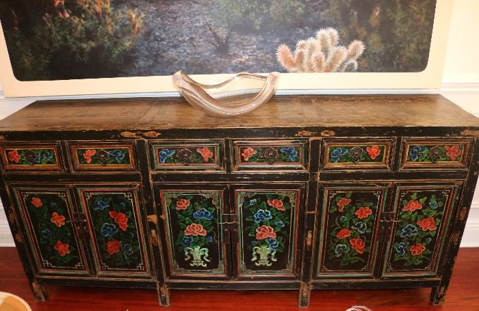 19th c. Antique Chinese Sideboard