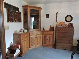 Amish made corner cabinet