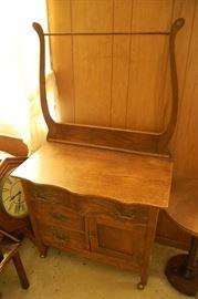 Antique Oak Serpentine Front Wash stand