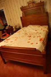 Very nice Antique Walnut Eastlake Victorian High Back Bed