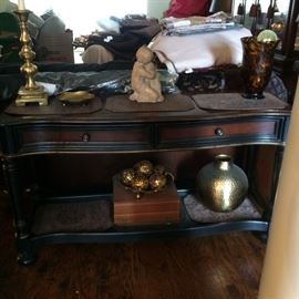 sofa/side table with drawer