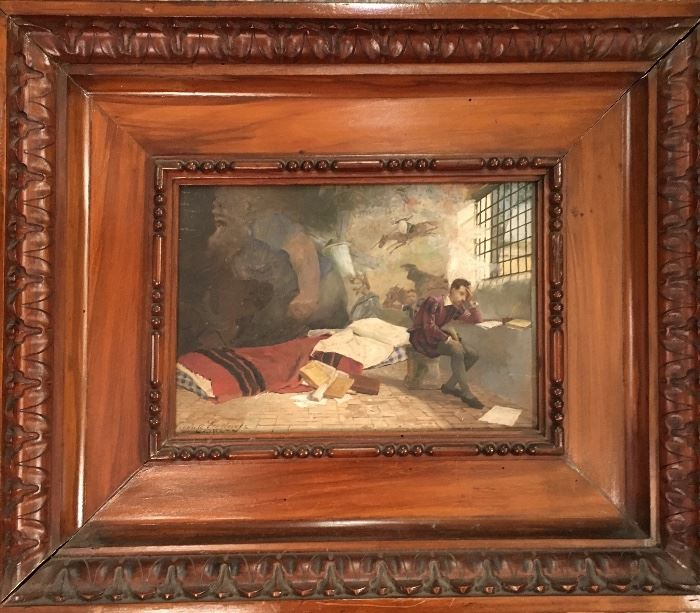 Don Quixote Painting by Vicente Gutierrez 1878 Seville