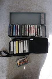 variety of cassette tapes