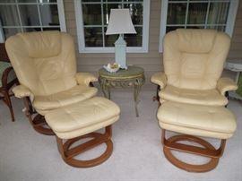 Palliser Danish modern mid century style chairs recliners