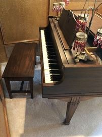 Over 100 years old Petite Grand Piano, solid Ash/Walnut.  Pre Selling this item!! $1800 obo