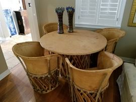 leather Mexican patio set