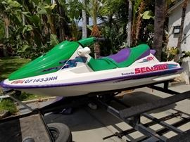 Nice older but legal Seadoo and custom trailer for two!