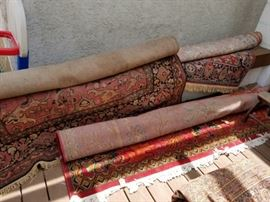 Several nice area rugs of various sizes