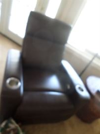 Recliner with cup holders