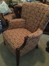 Pair of Channel Back chairs, newely recovered