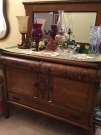 Nice Tiger Oak Antique Buffet